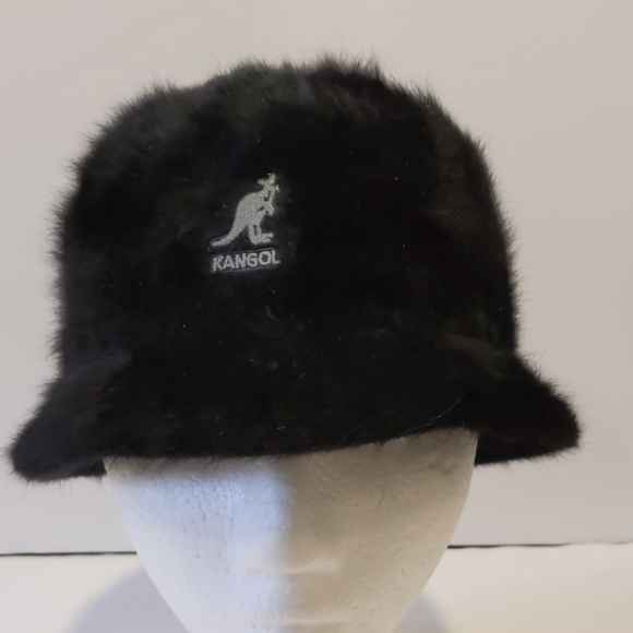 Kangol black furgora bucket hat medium